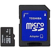Toshiba 8 Gb Microsdhc - Class 10/uhs-i - 40 Mb/s Read - 10 Mb/s Write Pfm008u-2dck