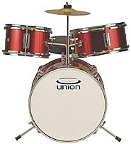 UNION drums DRSUT3MR 3-Piece Toy Drum Set - Metallic Red
