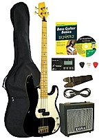 For Dummies Kbfdpk Electric Bass Guitar Starter Pack - Black