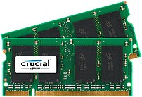 Crucial 2gb Ddr2 Sdram Memory Module - 2gb (2 X 1gb) - 667mhz Ddr2-667/pc2-5300 - Non-ecc - Ddr2 Sdram - 200-pin Ct2kit12864ac667