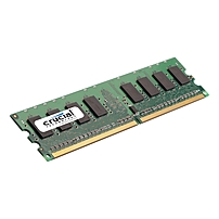 Crucial 2gb, 240-pin Dimm, Ddr2 Pc2-6400 Memory Module - 2 Gb (1 X 2 Gb) - Ddr2 Sdram - 800 Mhz Ddr2-800/pc2-6400 - 1.80 V - Ecc - Unbuffered - 240-pin - Dimm Ct25672aa80ea