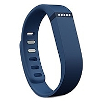 Fitbit Flex Wireless Activity   Sleep Wristband - Wrist - Accelerometer - Alarm - Heart Rate - Bluetooth - Bluetooth 4.0 - Near Field Communication - 120 Hour - Navy - Elastomer, Stainless Steel Clasp - Tracking, Health & Fitness - Water Resistant Fb401nv