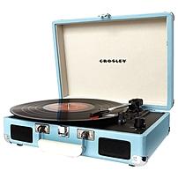 Crosley Cruiser Cr8005a-tu Record Turntable - Belt Drive - Manual - 78, 45, 33.33 Rpm - Turquoise