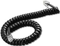 Clarity 50951.001 15 Feet Coiled Handset Cord for PTT and PTS Handsets Black