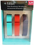 Fitbit Flex Wireless Activity & Sleep Wristband Accessory Pack - Tangerine, Teal, Navy FB401BTNTS