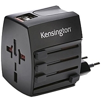 Kensington International Travel Adapter - 110 V Ac, 220 V Ac Input Voltage - 5 V Dc Output Voltage - 2.10 A Output Current K38120ww