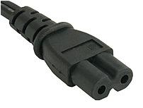 Encore UPC-C7 6 FT Power Cable - NEMA 1-15p to IEC320C7 - Black