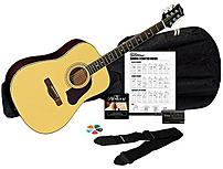 Image of Silvertone SD3000PAK-NA Acoustic Guitar Package with Tuner - Natural