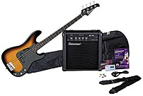 Silvertone Sslb11pak-sb Bass Guitar And Amp Package - Sunburst