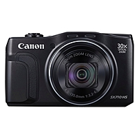 "Canon Powershot Sx710 Hs 20.3 Megapixel Compact Camera - Black - 3"" Lcd - 16:9 - 30x Optical Zoom - 4x - Optical (is) - Ttl - 5184 X 3888 Image - 1920 X 1080 Video - Hdmi - Pictbridge - Hd Movie Mode - Wireless Lan 0109c001"
