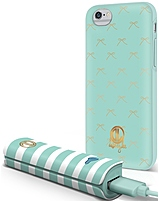 Dabney Lee ICPB601CHSE Case and Power Bank for iPhone 6 - Sea Green, White