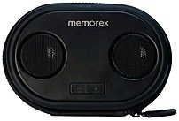 Memorex Ml310bk Portable Speaker And Case - Black