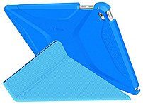 roocase Origami 3D Slim Shell Carrying Case  Folio  for iPad Air 2   Pacific Blue, Barbados Blue   p Compatibility  Apple   iPad Air 2  2014   p