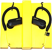 Jabra Sport Pace Earset - Stereo - Yellow, Black - Wireless - Bluetooth - 32.8 Ft - 32 Ohm - 100 Hz - 10 Khz - Earbud, Over-the-ear - Binaural - In-ear 100-97700000-02