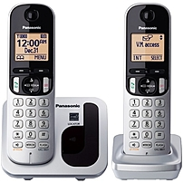 Panasonic KX-TGC212S DECT 6.0 1.90 GHz Cordless Phone - Silver - Cordless - 1 x Phone Line - 1 x Handset - Speakerphone - Caller ID - Hearing Aid Compatible - Backlight