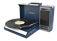 Crosley Spinnerette Cr6016a Record Turntable - Belt Drive - Manual - 78, 45, 33.33 Rpm - Blue Cr6016a-bl