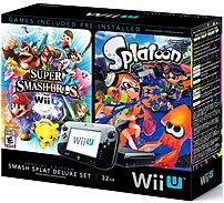 Nintendo Wupskagx 32 Gb Wii U Super Smash Bros And Splatoon Bundle Deluxe Set - Special Edition - Black
