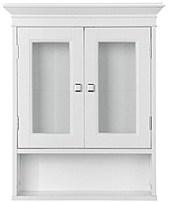 Fieldcrest 721015724926 Glass Door Luxury Wall Cabinet - White