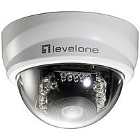 Levelone H.264 2-mega Pixel Fcs-3101 10/100 Mbps Poe Mini Dome Network Camera W/ir - 1920x1080 Hd Res, Poe, H.264, Mpeg-4, Mjpeg