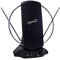 Supersonic Sc-605 High Definition Indoor Digital Tv Amplified Antenna - Black