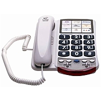 Clarity P300 Standard Phone - Corded - 1 X Phone Line - Hearing Aid Compatible P-300