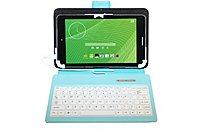 IdeaUSA Keyboard/Cover Case for 7 Tablet - Blue - Leather...