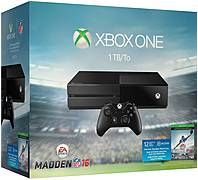 Microsoft Xbox One EA Sports Madden NFL 16 Bundle - 1 TB Hard Drive - Wireless - Black - ATI Radeon - 1920 x 1080 - 1080p - Blu-ray Disc Player - Gigabit Ethernet - Wireless LAN - HDMI - USB - Octa-core (8 Core) - Matte Black KF6-00064 KF6-00064