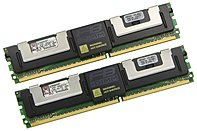 Kingston KTD-WS667/1G 1GB DDR2 SDRAM Memory Module - 1GB (2 x 512MB) - 667MHz DDR2-667/PC2-5300 - DDR2 SDRAM - 240-pin