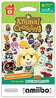 Nintendo Animal Crossing Nvlema6a Amiibo Cards Series 1 - 6 Pack