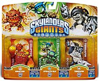 Activision 047875845671 Skylanders Giants: Eruptor, Stealth Elf and Terrafin Gaming Figures - 3 Character Pack 047875845671