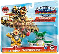 In an effort to save Skylands, the Skylanders have reached out across all dimensions to call for reinforcements with Activision 047875877450 87745 Skylanders Superchargers  Supercharged Combo Pack  Bowser and Clown Cruiser