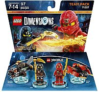 Warner Home Video Games 883929463862 Ninjago Team Pack guide to a building and gaming adventure   journey through unexpected worlds and team up with unlikely allies on the quest to defeat the evil Lord Vortech