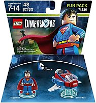 Let your creativity be your guide as you build the LEGO Gateway to adventure, journeying through unexpected worlds and teaming up with unlikely allies on the quest to defeat the evil Lord Vortech using Warner Home Video   Games 883929469697 1000561500 DC Superman Fun Pack