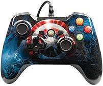 Be the first avenger in your neighborhood to own the PowerA 1414566 01 Wired Marvel Avengers  Captain America Controller featuring custom Captain America graphics and his famous shield
