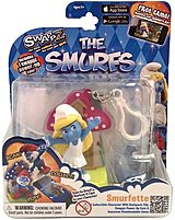 Swappz 628430122170 12217 The Smurfs - Smurfette Gaming Figure with Backpack Clip and Power-Up Coin