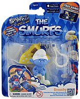 Swappz 628430122217 12221 The Smurf's - Grouchy Gaming Figure with Power-Up Coin