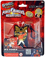 Swappz 628430123177 Power Rangers Mega Force Red Ranger Gaming Figure with Power-Up Coin