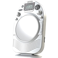 Jensen Am/fm Stereo Shower Radio And Cd Player With Fog Resistant Mirror - Cd-rw - Cd-da Playback - 1 Disc(s) - White Jcr-525