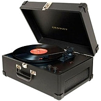 Crosley Keepsake Usb Turntable - Belt Drive - Automatic - 33.33, 45, 78 Rpm - Black Cr6249a-bk