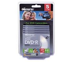 Memorex 4x Dvd-r Media - 1.4gb - 80mm Mini - 5 Pack Blister Pack 32025629