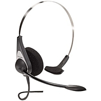 Panasonic WX CH427 Headset   Mono   Wired   35 Ohm   150 Hz   6 kHz   Over the head   Monaural   Supra aural   3.61 ft Cable   Omni directional, Electret Microphone