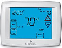 Emerson 1f95-1277 Universal 12-inch Touchscreen 7-day Programmable Thermostat - White