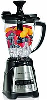 The Hamilton Beach 58158 Countertop MultiBlend Blender propels ingredients around the jar for excellent results with both liquid and solid mixtures