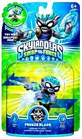 The Activision 047875847422 Skylanders SWAP Force  Freeze Blade   Swapable   Gaming Figure Keeping it Cool When he was young, Freeze Blade's family moved from the Frozen Wastelands of Vesh to the Great Lava Lakes