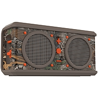 Skullcandy Air Raid Speaker System - Portable - Battery Rechargeable - Wireless Speaker(s) - Tan, Realtree, Dark Orange - Bluetooth - Led Indicator, Water Resistant, Impact Resistant, Rechargeable Battery, Rugged Design, Wireless Audio Stream, Scratch Res S7arfw-424