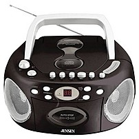 Jensen CD 540 Radio CD Cassette Player Recorder Boombox   LCD   Auxiliary Input