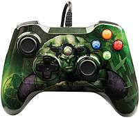 With PowerA 1414564 01 Wired Controller Marvel Hulk   Xbox 360 Smash your opponents with this featuring custom Hulk graphics and colored in shades of gamma green