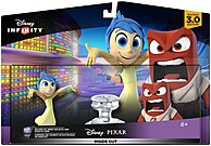 The Disney Infinity 3.0 1264200000000 Inside Out Play Set includes the cheerful and bright sunshine character Joy and the hot headed powerhouse Anger.