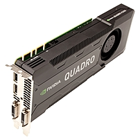 Pny Quadro K5000 Graphic Card - 4 Gb Gddr5 - Pci Express 2.0 X16 - Dual Slot Space Required - 256 Bit Bus Width - 3840 X 2160 - Fan Cooler - Directx 11.0, Opengl 4.3, Opencl, Directcompute 5.0 - 2 X Displayport - 2 X Total Number Of Dvi - Pc - 4 X Monitor Vcqk5000sync-pb