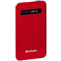 Verbatim Ultra-Slim Power Pack, 4200mAh - Red - TAA Compliant 98453 98453